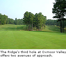 The Ridg'es third hole at Oxmoor Valley